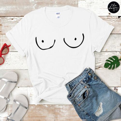 ts seins Feminist Girl Power Top Blog Boobs T-shirt imprimé Funny Girls Tee T