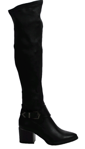Womens High Heel PU Leather Ladies Tall Stretch Over The Knee High Boots Size3-8