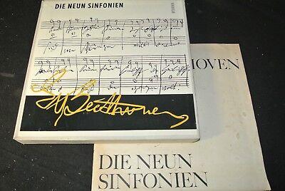 BEETHOVEN Die neun Sinfonien KONWITSCHNY / DDR 8 LP Mono BOX 1966 ...