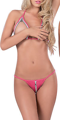 8016 Sexy GoGo Dancer Stripper RAVE Pink Exotic Bikini LINGERIE G-STRING S M L