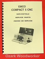 Emco Compact 5 Cnc Metal Lathe Parts Manual 0291