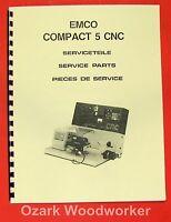 Emco Compact 5 Cnc Metal Lathe Parts Manual 0291