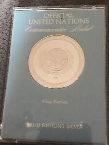 Rare Official United Nations Commemorative Medal Solid Sterling Silver