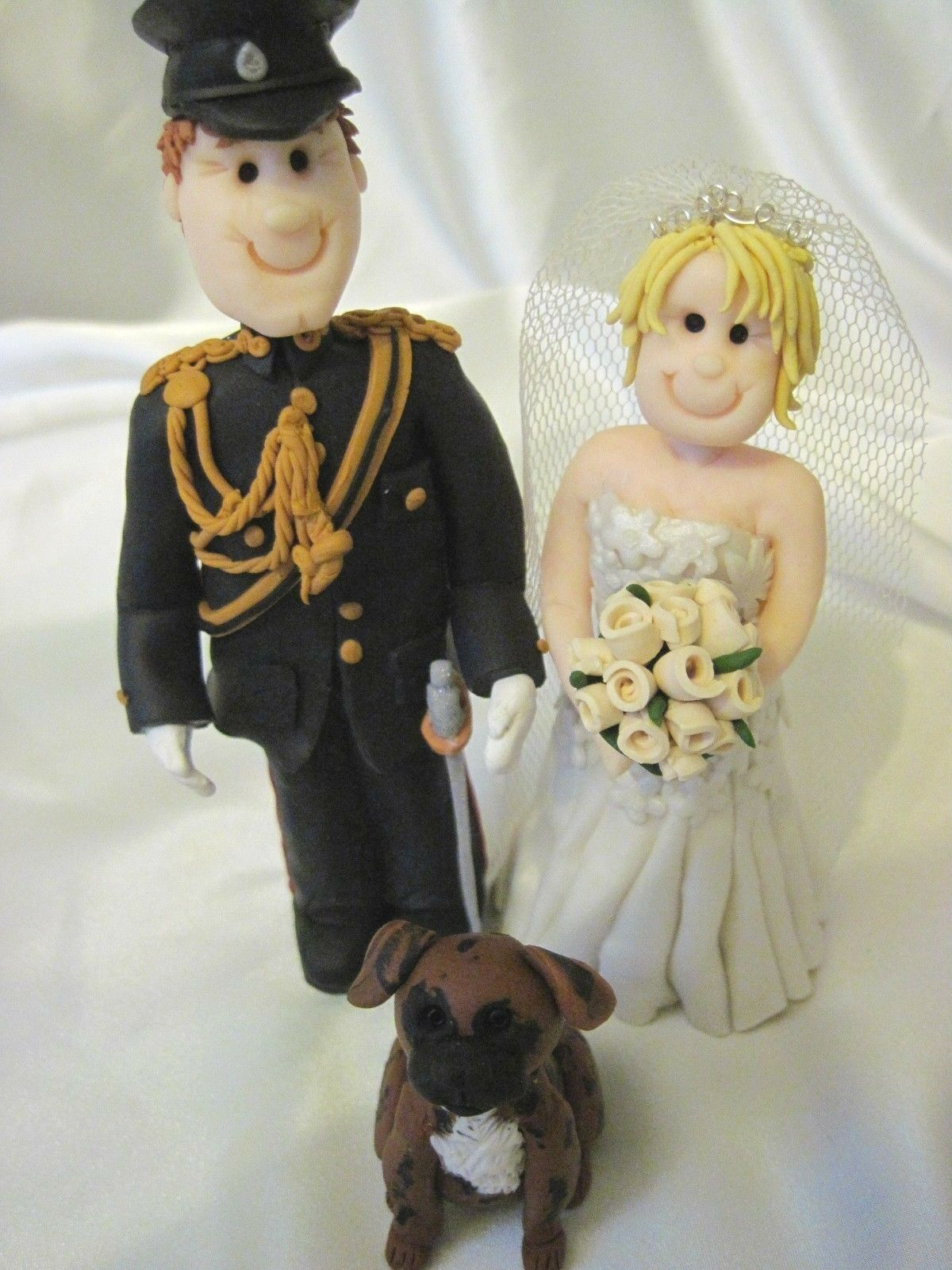 Personalised Wedding Cake topper Sposa e Sposo, unico Argilla fatte fatte fatte a mano RICORDO 820ce3