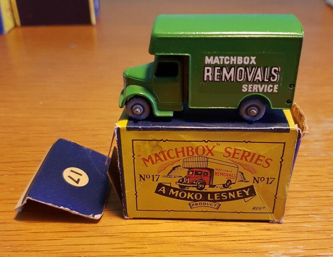 årgång Lesney Matchbox Ingen 17 Matchbox- hämtningstjänst Boxad