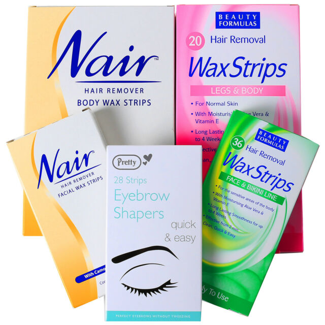QUALITY HAIR REMOVAL WAX STRIPS Facial/Body/Face/Bikini/Arm/Lip/Shaping/Plucker