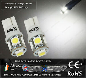 W5W-T10-Wedge-White-LED-SMD-Truck-Front-Side-Lights-Parking-Bulbs-Sidelights-24v