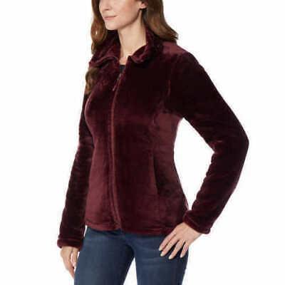 32 Degrees Heat Women Plush Velour Full Zip Mock Neck Jacket Storm Variety NWT