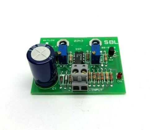 Watlow 0343 SBL Control Card from Temperature Controller C 35-0249 Rev
