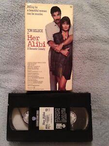 Her Alibi 1989 Vhs Tape Comedy Crime Tom Selleck Paulina