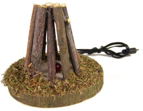 Feuerstelle Krippendekoration Lagerfeuer aus dünnen Ästen für 3,5V Trafo,6 cm