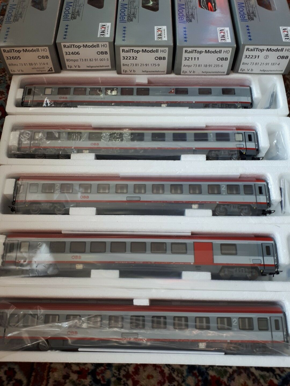 Rail-Top Modell HO 32111-32231-32232-32406-32605 Treno completo OBB
