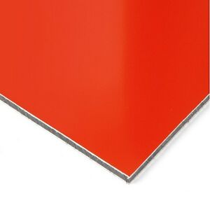 3mm Red Matt / Gloss Dibond ACM Sheet Aluminium Composite 7 SIZES TO CHOOSE