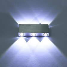 Modern LED Wall Lights Aluminum 6 Sconces Living Room Bedroom Hall Cool White UK