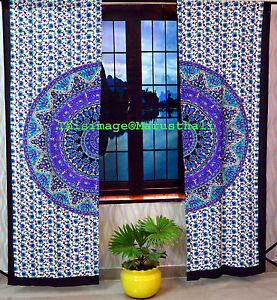 Cortinas-de-Paisley-Tapiceria-de-India-Cortinas-de-puerta-colgantes-de-pared