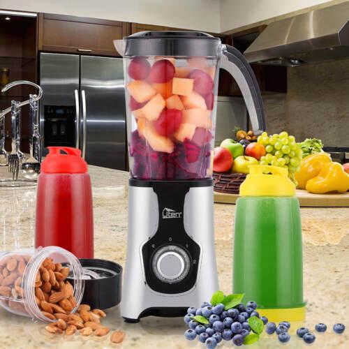 5in1 Smoothie Maker Standmixer BPA frei Edelstahl Mixer Milchshaker Ice-Crusher
