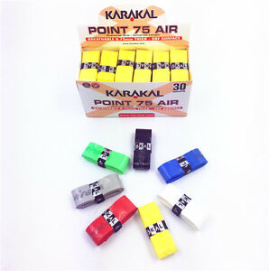 30pcs UK Karakal KA704 super breathing holes tennis badminton grip-mix color