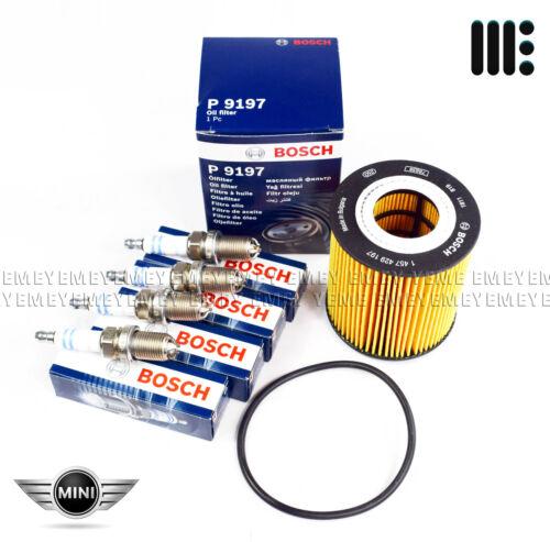 Véritable BOSCH Service Kit Filtre À Huile 4 Bougies Mini Cooper S R50 R53 2002-06