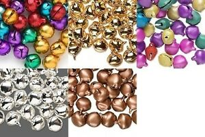 300 JINGLE BELLS~ Pick your Colors~ SIlver/Gold/Co<wbr/>pper/Mixed Beads Charms 6+10mm