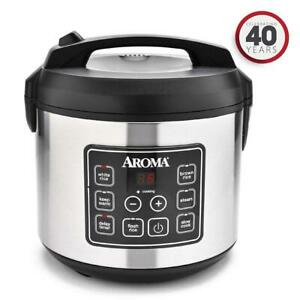 Aroma-Rice-Cooker-and-Food-Steamer-20-Cup-Cooked-Digital-ARC-150SB
