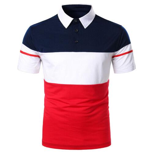 Camiseta Polo De Manga Corta Moda Deportivo Para Hombres Verano Elegante Fiesta