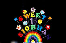 SWEET 16  Rainbow, HIPPY  Birthday  Cake Topper (other ages can be added)