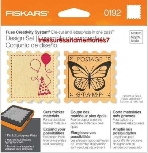 Fiskars Fuse Creativity Design Set 0192 STAMP Die Cut /& Letterpress SQUARE