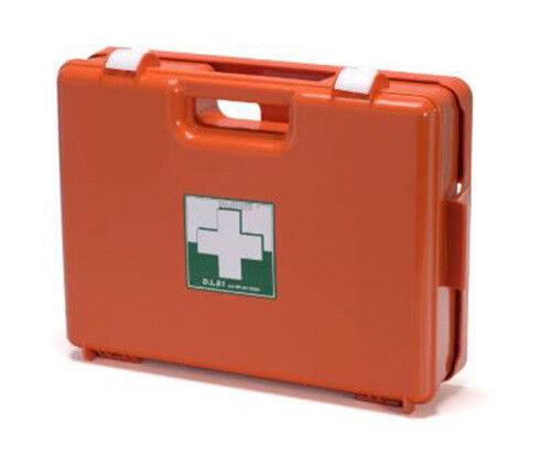 Valigetta pronto soccorso cassetta medica DM 388 DL 81 cat A B supporto a muro