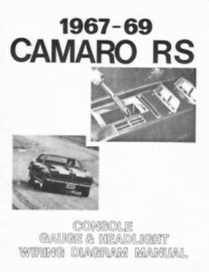 camaro 1967 1968 1969 wiring diagram including headlight console ebay. Black Bedroom Furniture Sets. Home Design Ideas