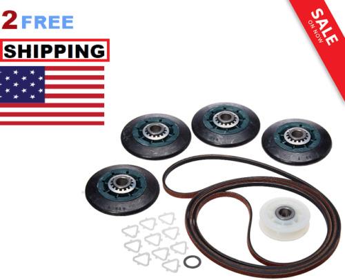 Dryer Drum Roller Belt Pulley Kit for Admiral Crosley Kenmore Maytag Whirlpool