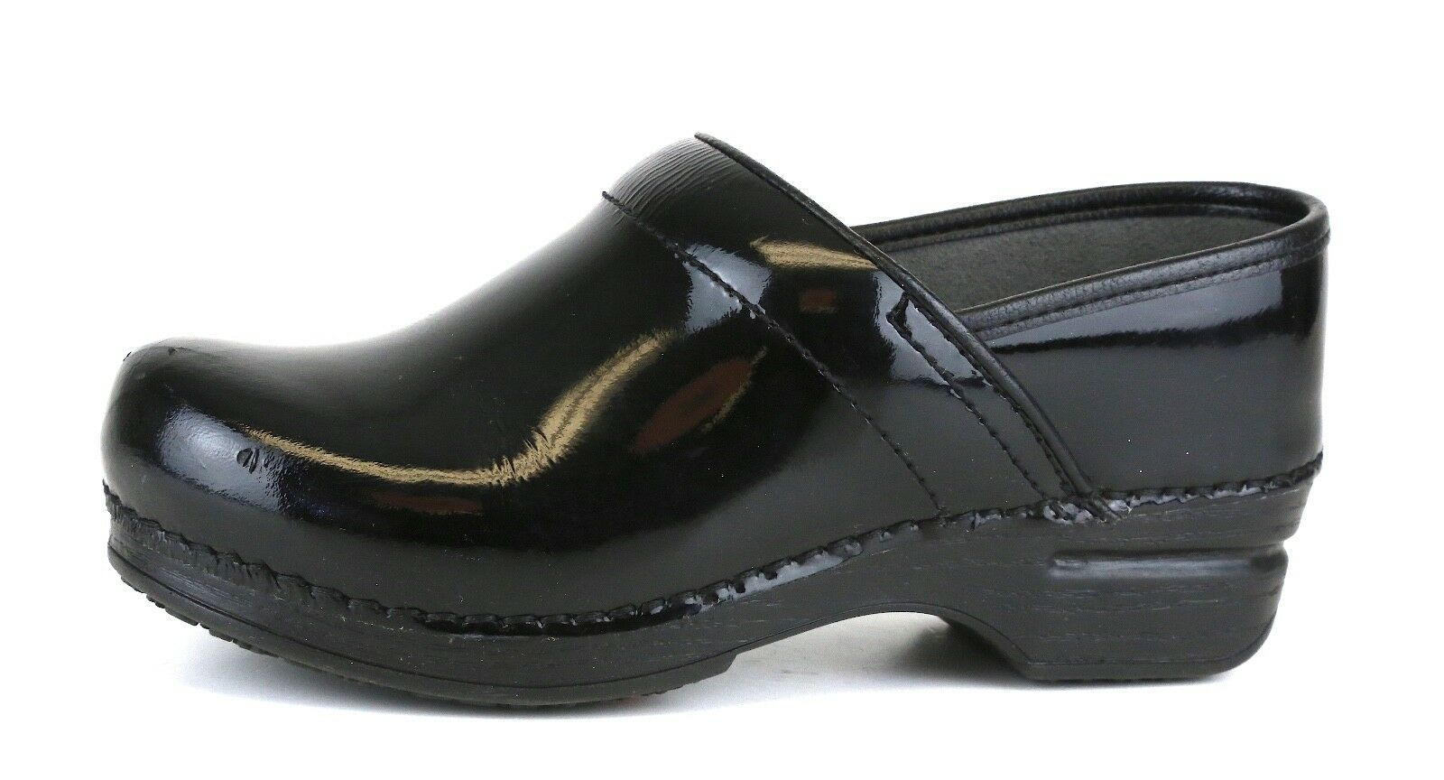 Dansko Professional XP Patent Leather Leather Leather Clog Black Women Sz 36 EUR 4830 bd48e5
