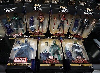 """Marvel Legends 6/"""" Captain Marvel NICK FURY SKRULL TALOS KREE SENTRY BAF IN STOCK"""