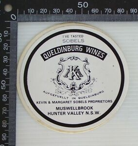 VINTAGE-I-TASTED-SOBELS-QUELDINBURG-WINES-MUSWELLBROOK-ADVERTISING-PROMO-STICKER