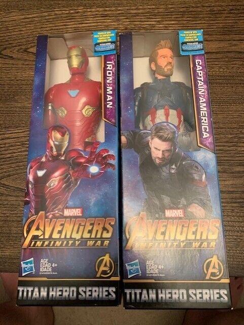 Marvel Infinity War Titan Hero Series Iron Man & Captain America with Titan Hero