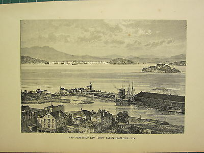 Art Gentle C1890 Antique Print ~ San Francisco Bay From The City Price Remains Stable