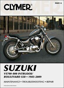 suzuki intruder vs 700 750 800 boulevard s50 clymer repair manual rh ebay com 2001 suzuki intruder vs800 service manual Suzuki Intruder 800 Owner's Manual
