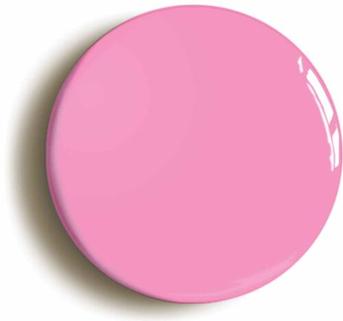 PLAIN PINK BADGE BUTTON PIN Size is 1inch//25mm diameter