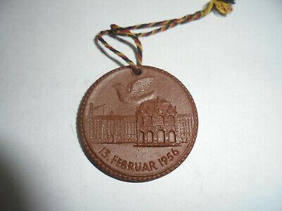31203 Meißen Medaille Böttgersteinzeug Dresden 13.februar 1956 Medal Stoneware