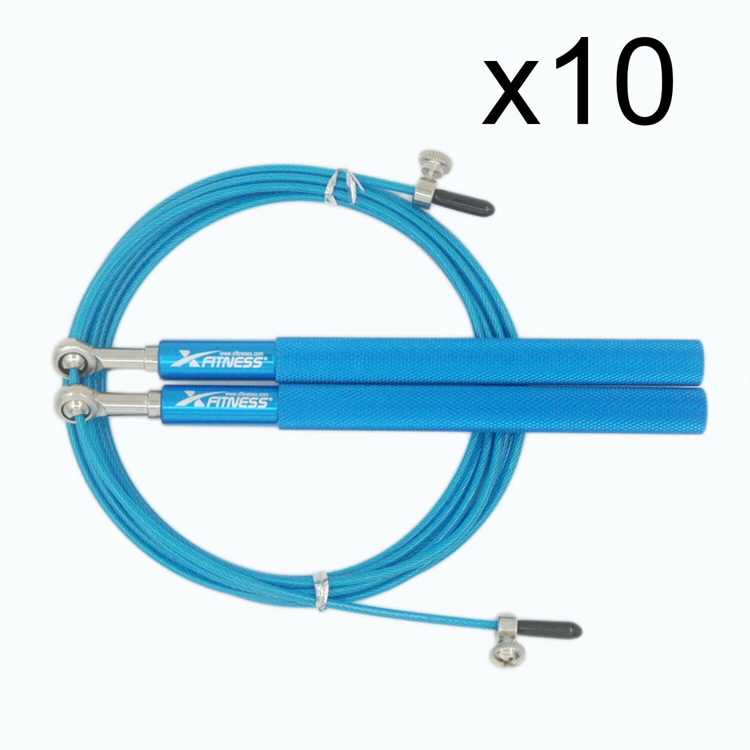 Lot of 10 blueE Ball Bearing Speed Wire Jump Rope for Cardio Crossfit Boxing Gym