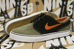 fb932f4efa1 Nike SB Zoom Stefan Janoski Size 9.5 Medium Olive Green Orange Black ...