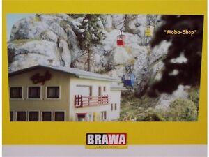 Brawa-6280-6290-Kanzelwand-Seilbahn-inclusive-Gebaeudebausatz-63540-1