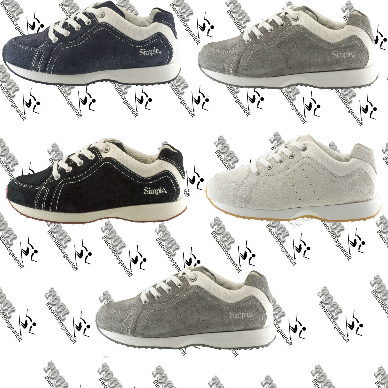 SIMPLE 2511 WOMENS NEW O.S. RUNNER RUNNING TRAIL SUEDE LACE UP SHOE  US7