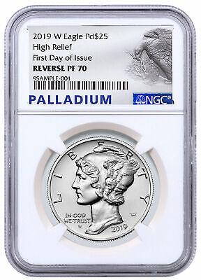 2018-W Proof $25 American Palladium Eagle .9995 1 oz NGC PF70UC FDI Palladium La