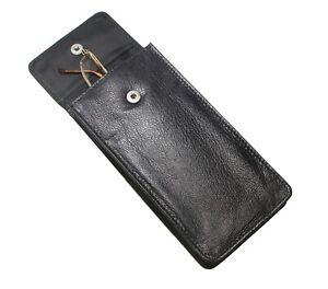 Soft-Black-Leather-Spectacle-Glasses-Case-Holder