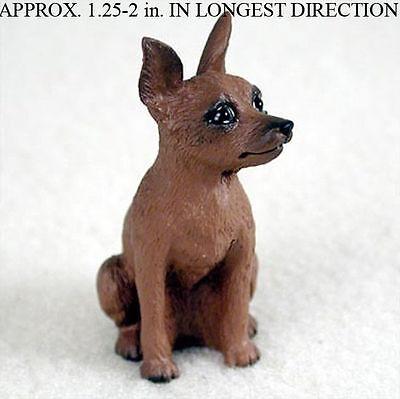 Miniature Pinscher Resin Dog Figurine Red/Brown