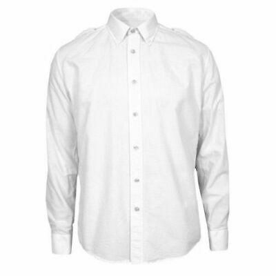 Casual Button-down Shirts British Army Uniform Short Long Sleeve Mans Shirt White Rn Royal Navy Genuine