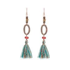 TASSEL DANGLE DROP EARRINGS Boho Gypsy Tribal Ethnic Festival Jewellery Bohemian