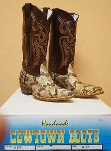 Mens Cowtown Canebrake Cowboy Boots N815 Handmade Nib