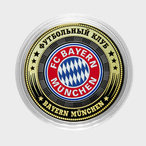 """Russia a coin of 10 rubles football club /""""Barcelona/"""" colored,unc,new!"""