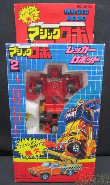 Magisch Roboter 2 Wecker Reibung Feuer mit Kiste Hergestellt in Japan Vintage